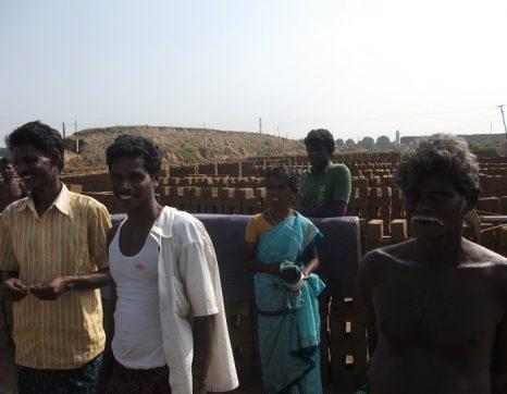 Workers at a Brick Kiln